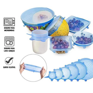6PCS Silicone Fresh-keeping Lids Plastic Wrap Bowl Cover
