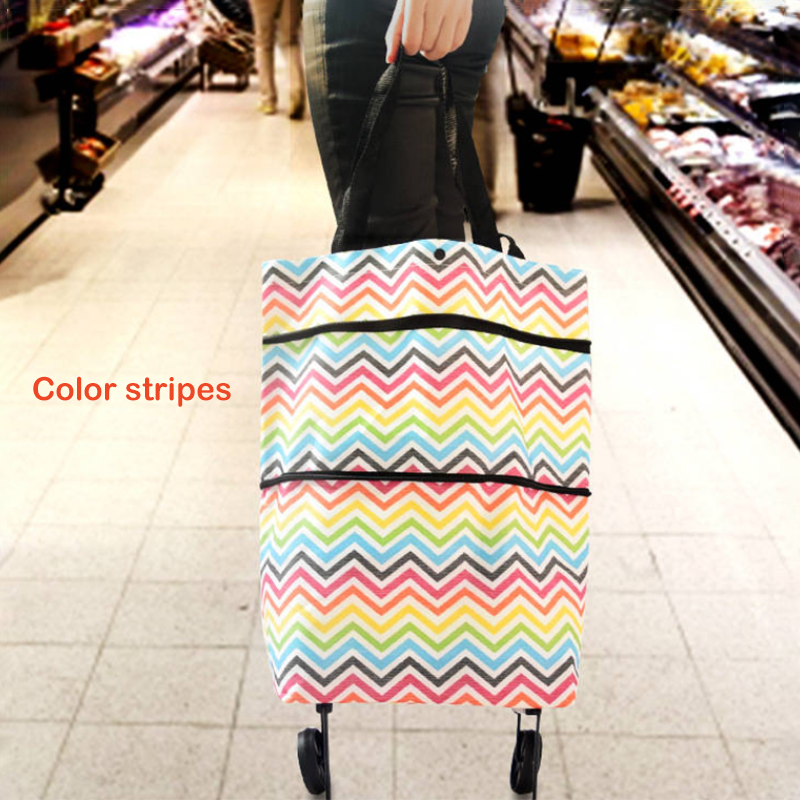 (HOT SALES NOW!!!) Foldable Shopping Trolley Tote Bag