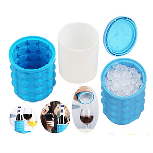 Silicone Ice Cube Maker Portable Bucket