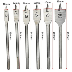 10-25MM Machine Flat Wood Drill Bits(6PCS/SET)