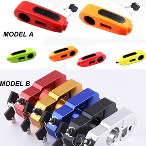 Motorcycle Handlebar Lock Grip Security Safety Locks