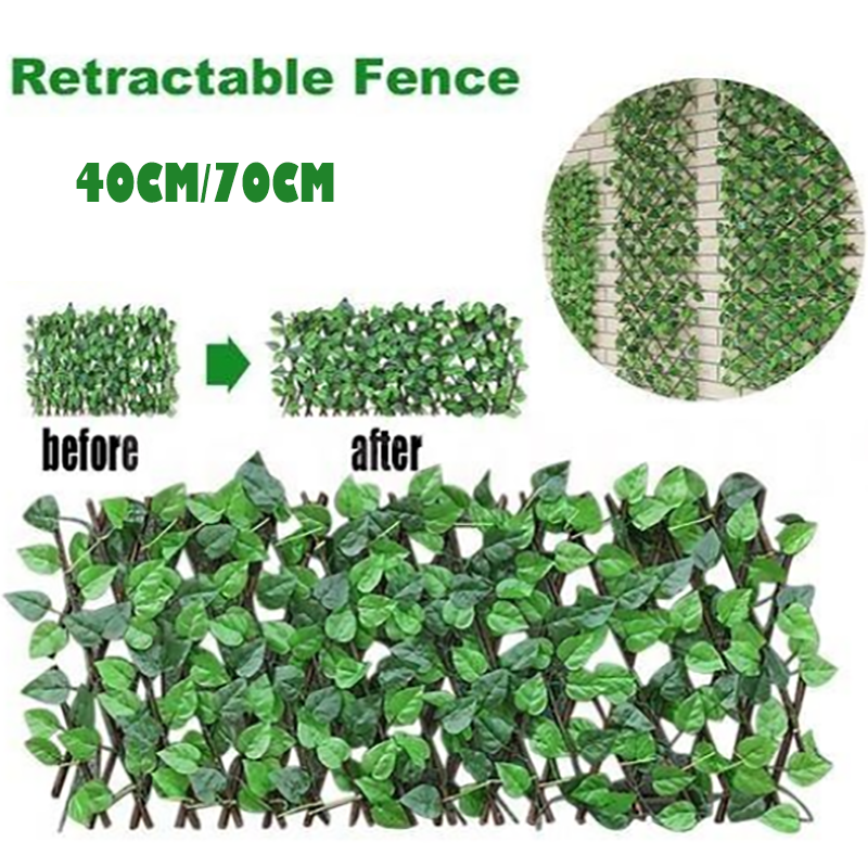 Retractable Artificial Garden Fence
