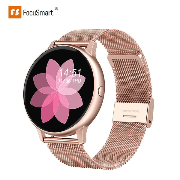 FocusSmart Smart Watch  DT88Pro port Fitness Pulsmesser Smartwatch für Android IOS Damen