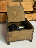 Load image into Gallery viewer, wind-up wooden music box | music box | designer music box