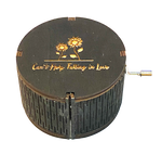 Load image into Gallery viewer, Hand-cranked Round-shaped Wooden Music Box
