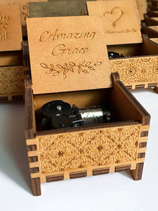 wooden music box | music box | designer gift item