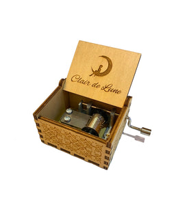 Clair de Lune, Tiny Cute Hand-cranked Wooden Music Box