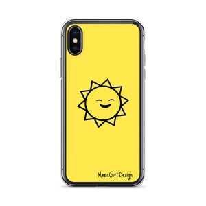 Smiley Sun iPhone Case (Yellow)