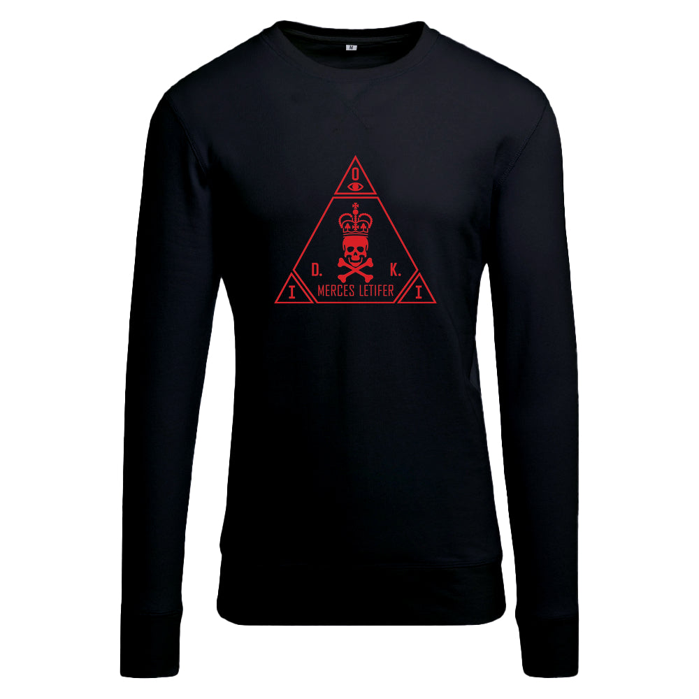 ICA Red with Light Crew sweatshirt