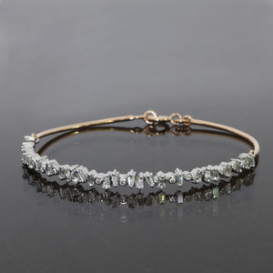 Fragment Half Eternity Baguette and Round Diamond Bangle