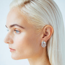 Load image into Gallery viewer, Aquamarine and White Sapphire Fringe Earrings