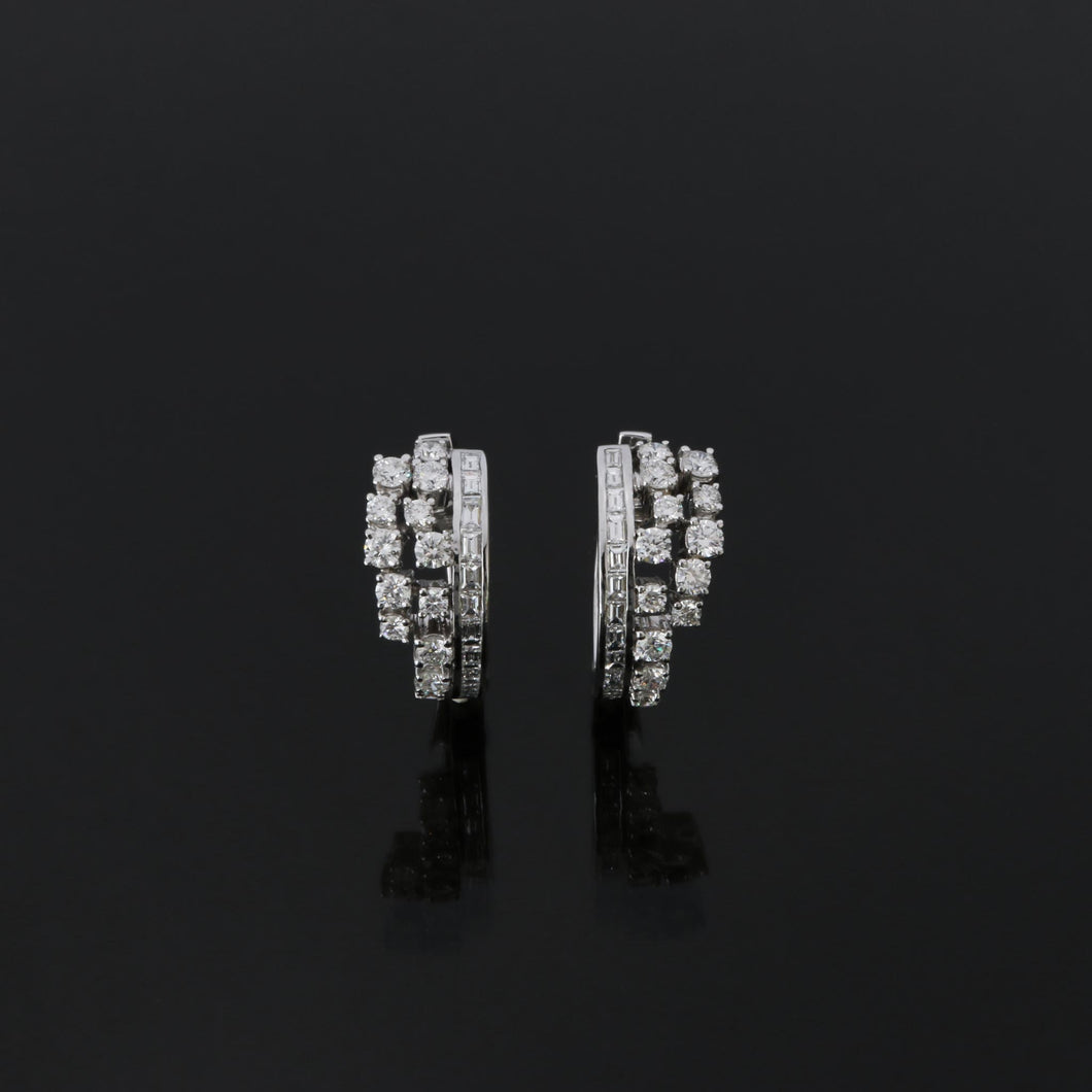Diamond Cascade Hoop Earrings