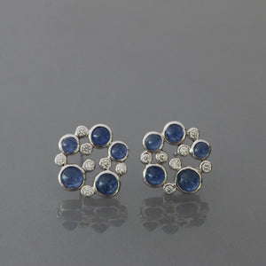 Blue Sapphire Bubble Earrings