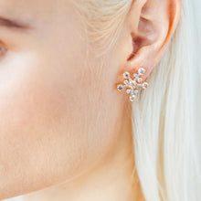 Load image into Gallery viewer, Cognac Diamond Star Earrings