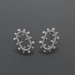 Ellipse Snowflake Diamond Earrings