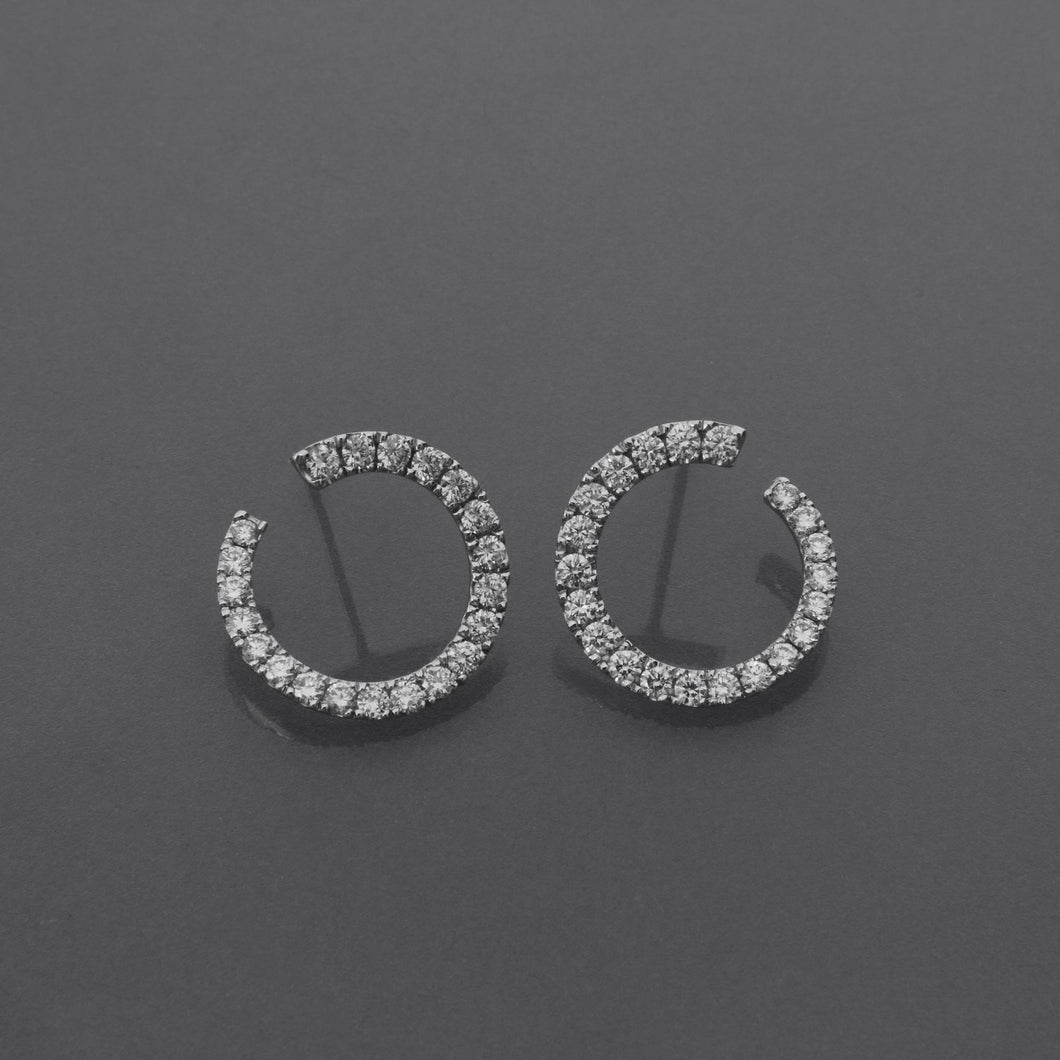 Torsion Prong Set Diamond Earring