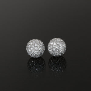 13mm Pave Ball Earrings