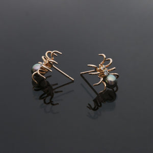 Spider Earrings in Rose Gold