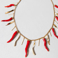 Load image into Gallery viewer, Sardinian Coral and Gold Laver Necklace