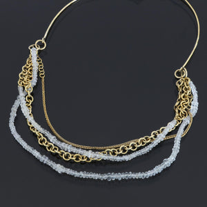 Multi Layer White Sapphire Necklace