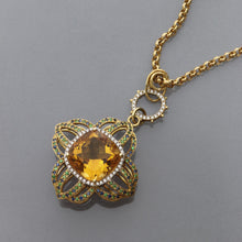 Load image into Gallery viewer, Citrine Cross Pendant