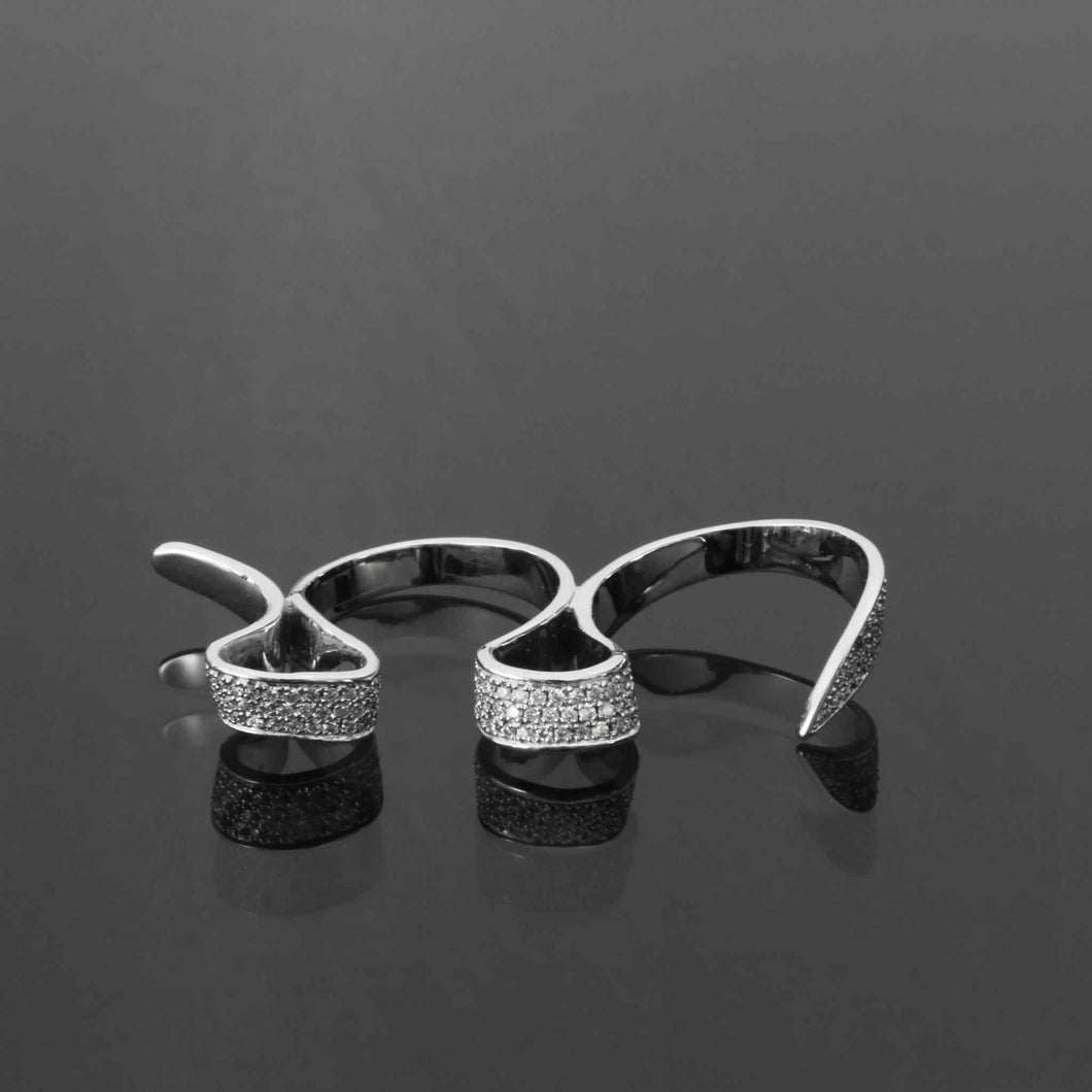 Mobius Diamond Pave Ring