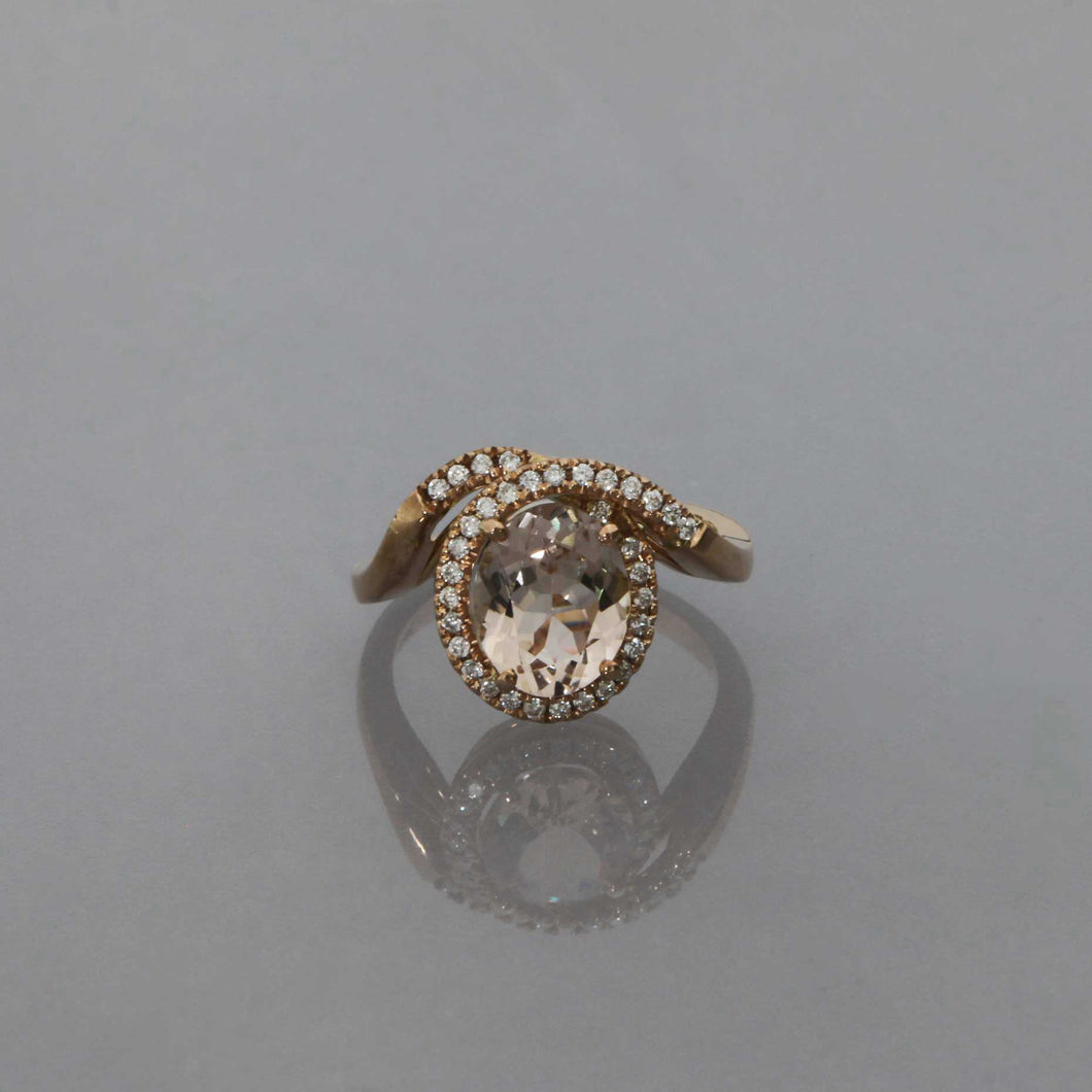 Morganite Ribbon Ring