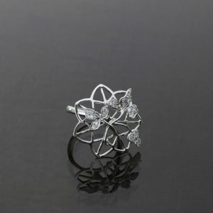 Trellis Diamond Pave Ring