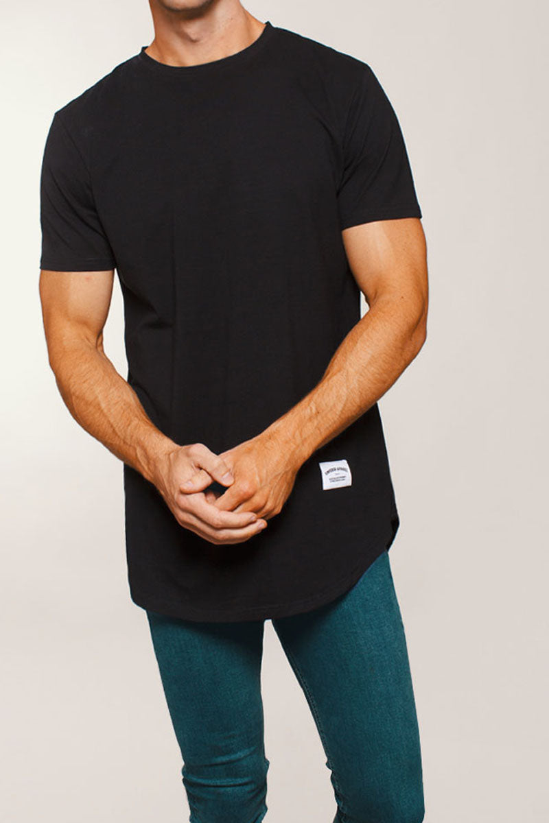 Basic Scoop T-Shirt (Black)