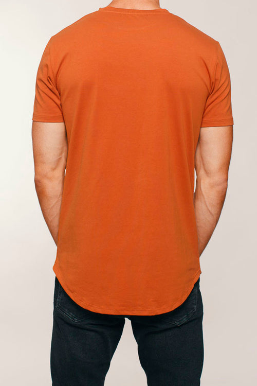 Basic Scoop T-Shirt (Burnt Orange)