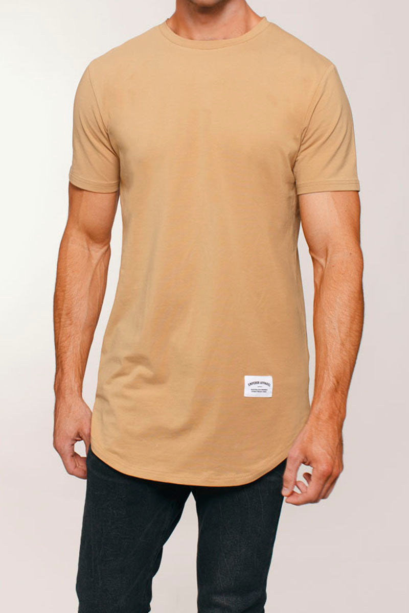 Basic Scoop T-Shirt (Tan)
