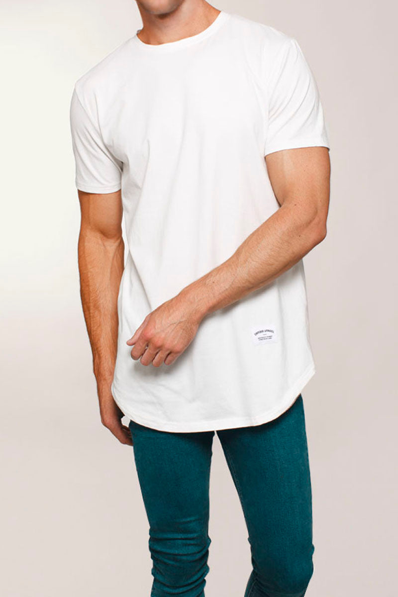 Basic Scoop T-Shirt (White) - 1 left!