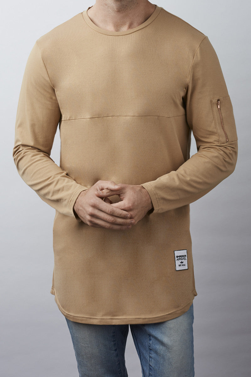 Windsor L/S T-Shirt (Tan)