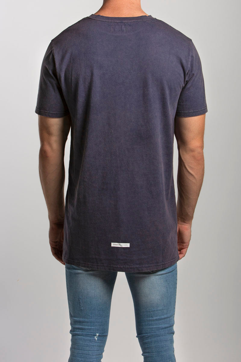 Byron T-Shirt (Navy Acid Wash)