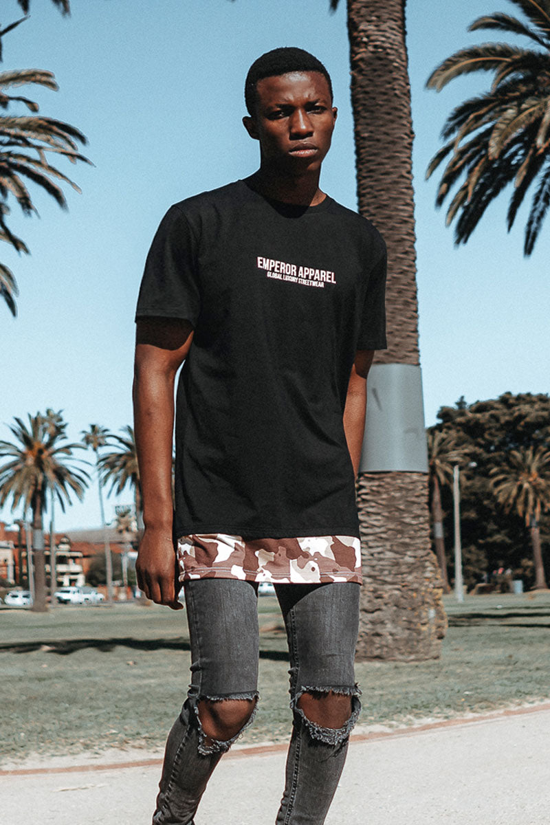 Camo Layer T-Shirt (Black)