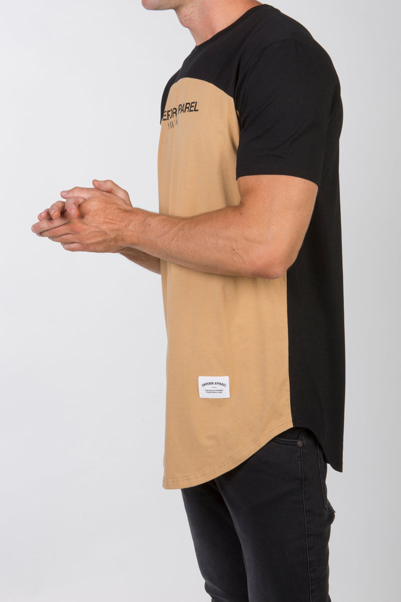 Contrast T-Shirt (Tan)