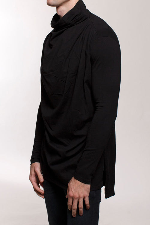 Cowl Neck L/S T-Shirt
