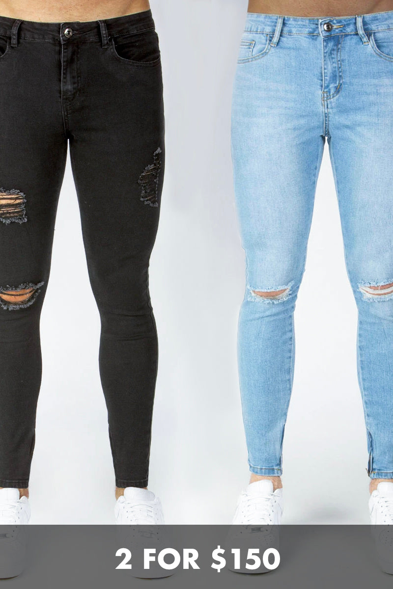 Distressed Denim Bundle