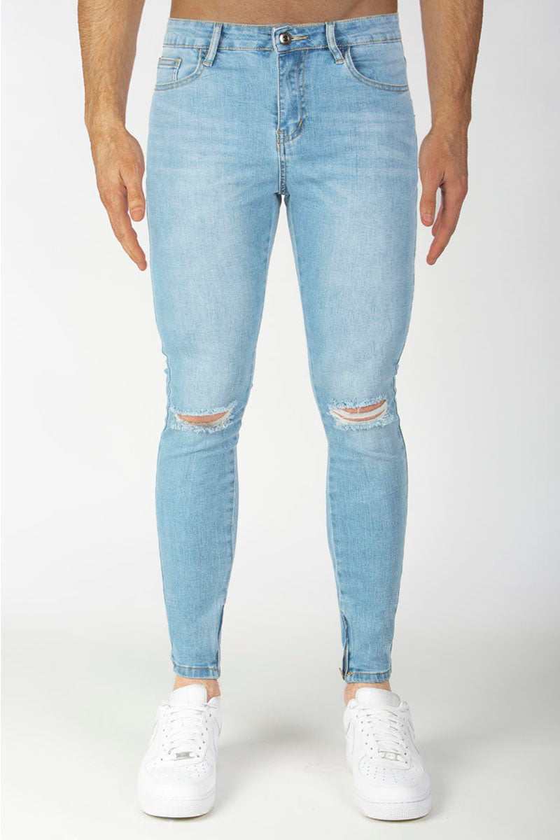 Spray Jeans (Blue) - Ripped