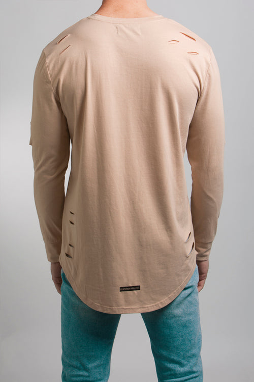 Distressed T-Shirt (Tan)