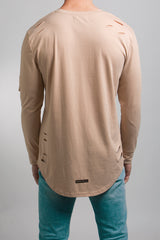 Distressed T-Shirt (Tan) - 3 left!
