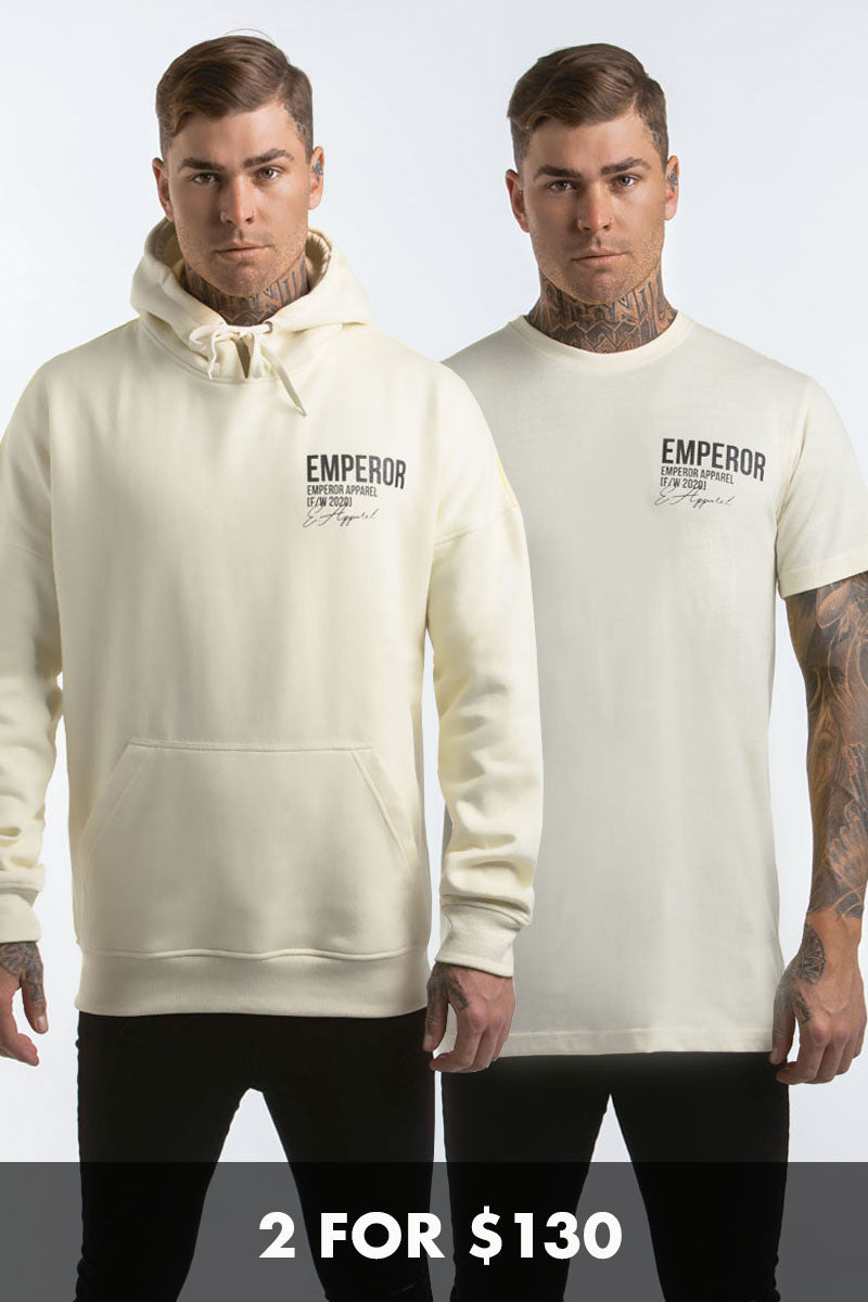 FW Hood & T-Shirt Bundle - Off White