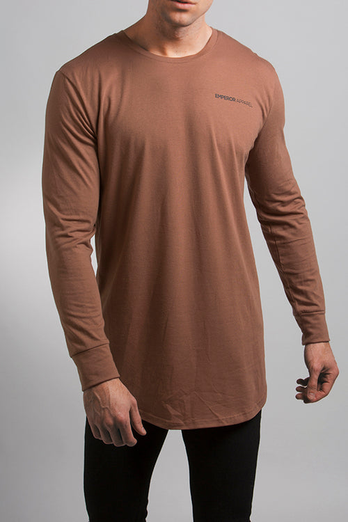 LS Scoop T-Shirt (Brown)