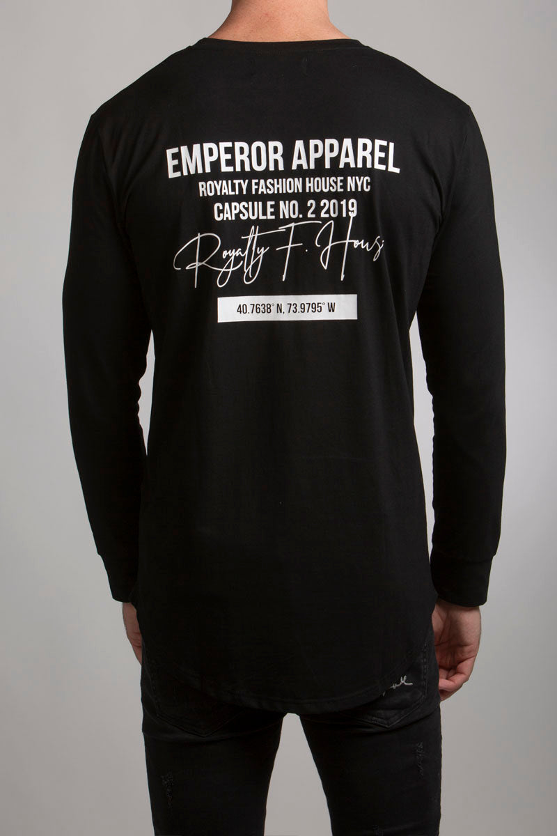 Manhattan LS T-Shirt (Black) - 2 left!