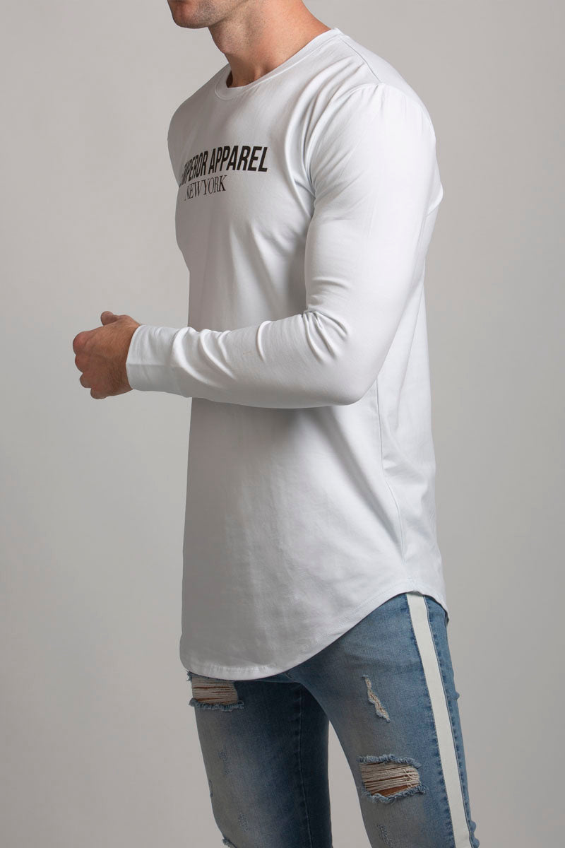 Manhattan LS T-Shirt (White) - 1 left!