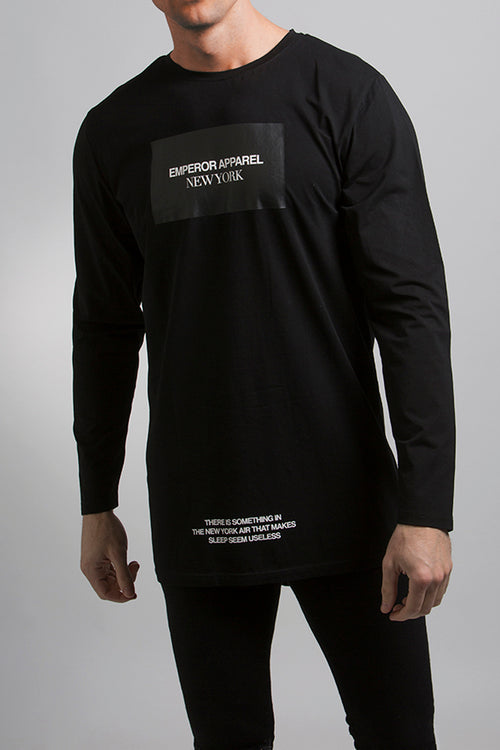 New York LS T-Shirt (Black)
