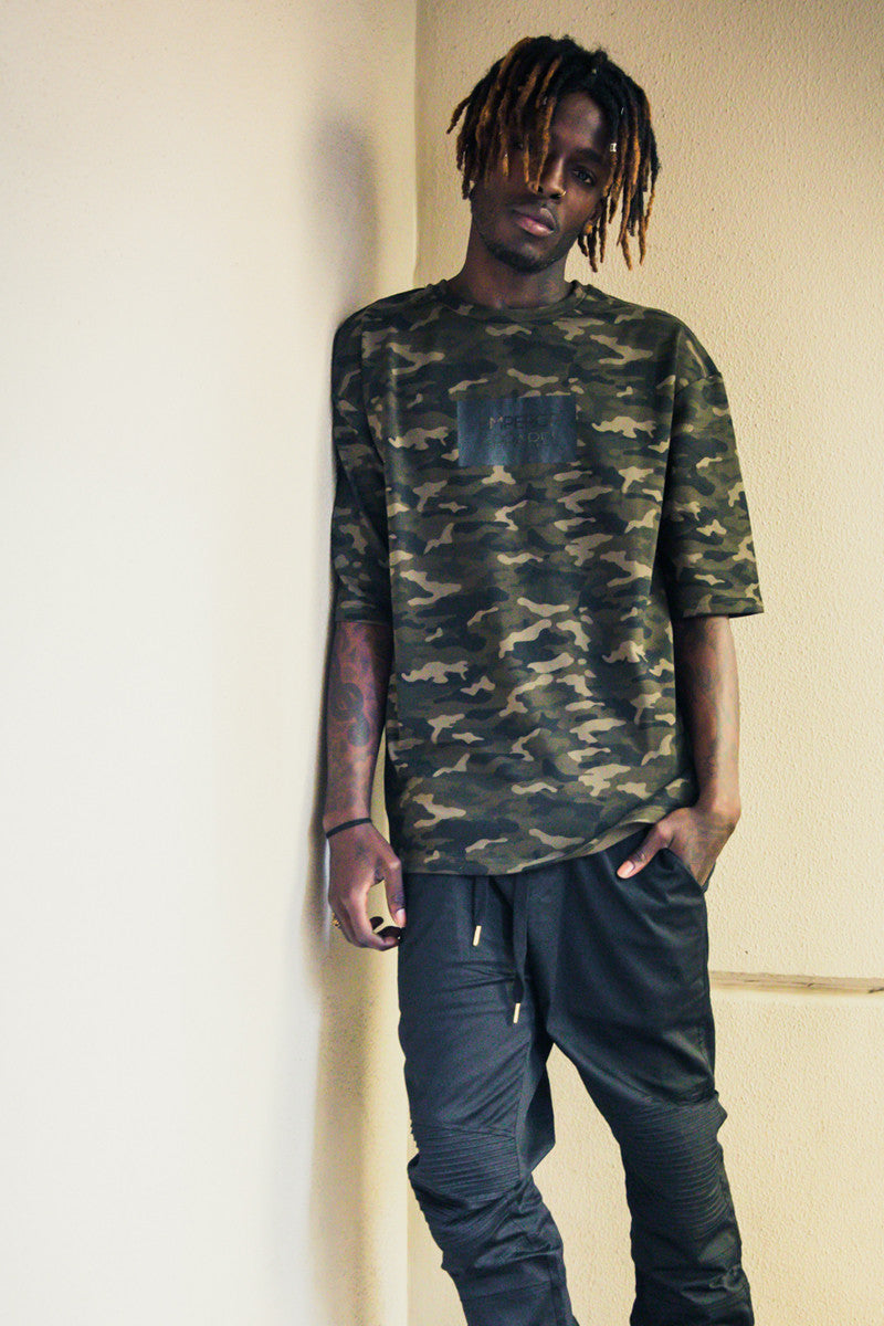 Oversize Camo Fleece T-Shirt