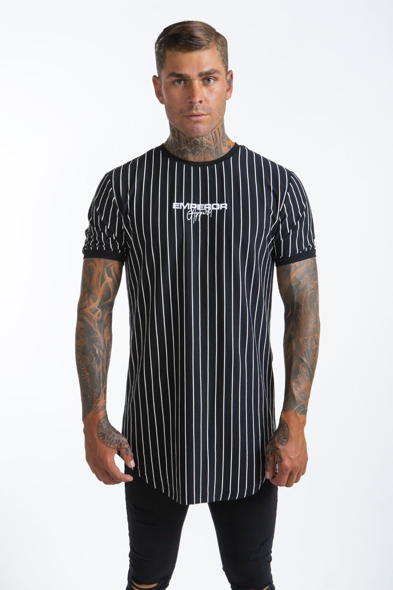 Prestige Striped T-Shirt (Black)