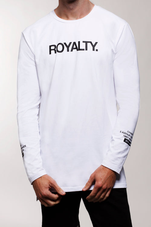 Royalty L/S T-Shirt (White)