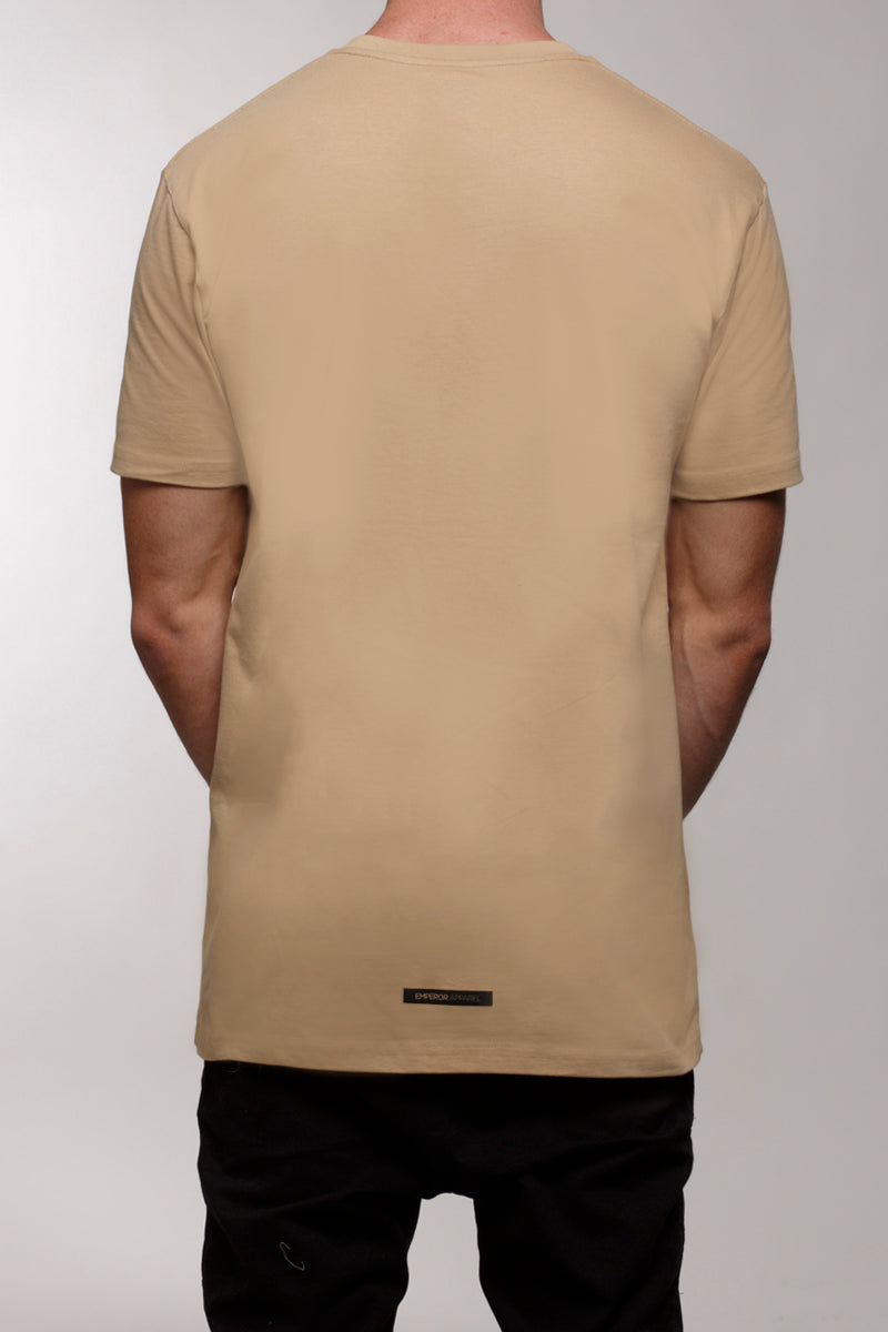 Box Print T-Shirt (Tan)